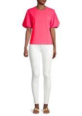 Milly Monica Jersey Puff-Sleeve T-Shirt