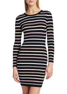 Milly Multi-Stripe Knit Bodycon Dress