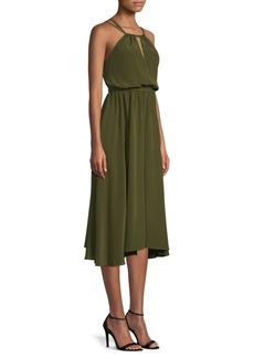 Milly Mykonos Halter Midi Dress