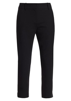 Milly Nicole Stretch Virgin-Wool Crop Pants
