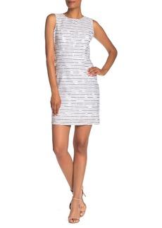 Milly Nina Burnout Stripe Sheath Dress