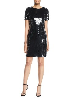 Milly Paillettes T-Shirt Dress