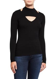 Milly Peek A Boo Long-Sleeve Sweater