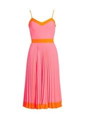 Milly Pleated GG Midi Dress