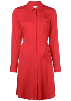 Milly pointed collar shirt dress