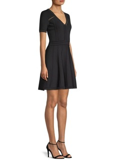 Milly Pointelle Flare Dress