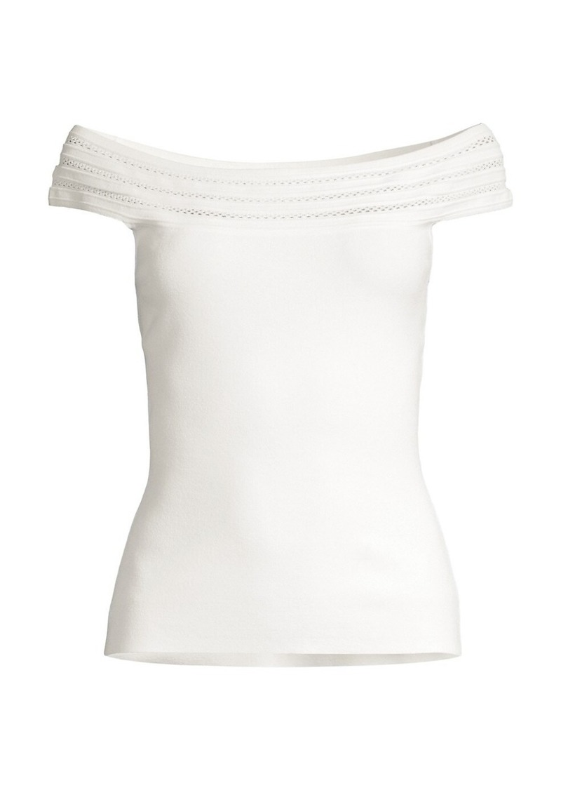 Milly Pointelle Off-The-Shoulder Top