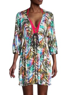 Milly Printed Cotton Tunic Coverup