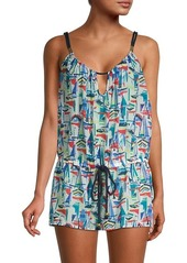 Milly Printed Silk & Cotton Coverup