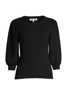 Milly Puff-Sleeve Knit Pullover