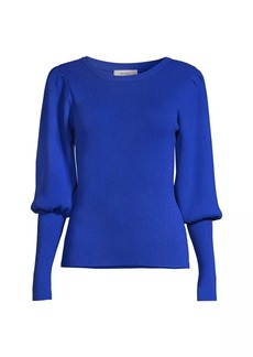 Milly Puff-Sleeve Knit Sweater