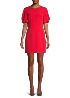 Milly Puffed-Sleeve Mini Dress