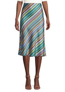 Milly Rainbow Stripe Skirt