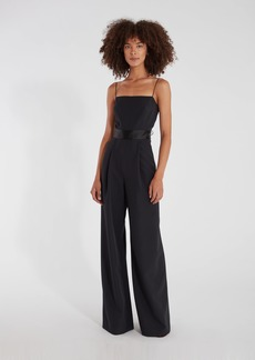 Milly Reina Tie Back Wide Leg Jumpsuit