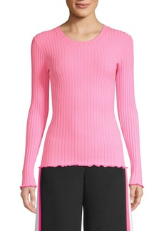Milly Ribbed Pullover Sweater