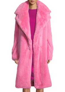 Milly Riley Long Faux-Fur Coat