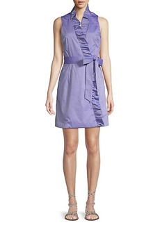 Milly Ruffle-Front Wrap Dress