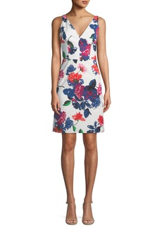 Milly Sandrine Floral-Print Mini Dress