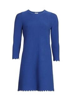 Milly Scalloped Shift Dress