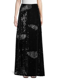 Milly Sequin-Embellished Maxi Skirt