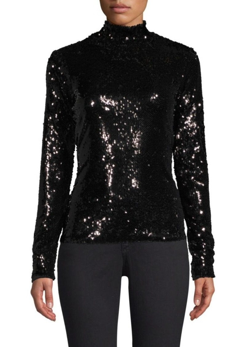 2997d66e334956 Milly Sequins Turtleneck Sweater