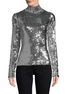 Milly Sequins Turtleneck Sweater