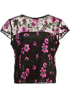 Milly sheer floral blouse