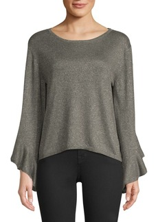 Milly Shimmer Drop Sleeve Sweater