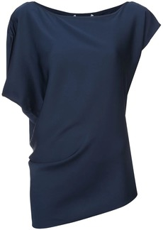 Milly shortsleeved square neck blouse