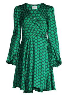 Milly Siena Dotted Wrap Dress