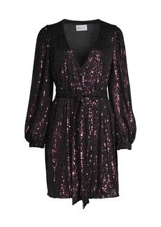 Milly Siena Sequin Wrap Dress