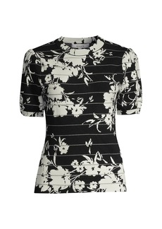 Milly Silhouette Floral T-Shirt
