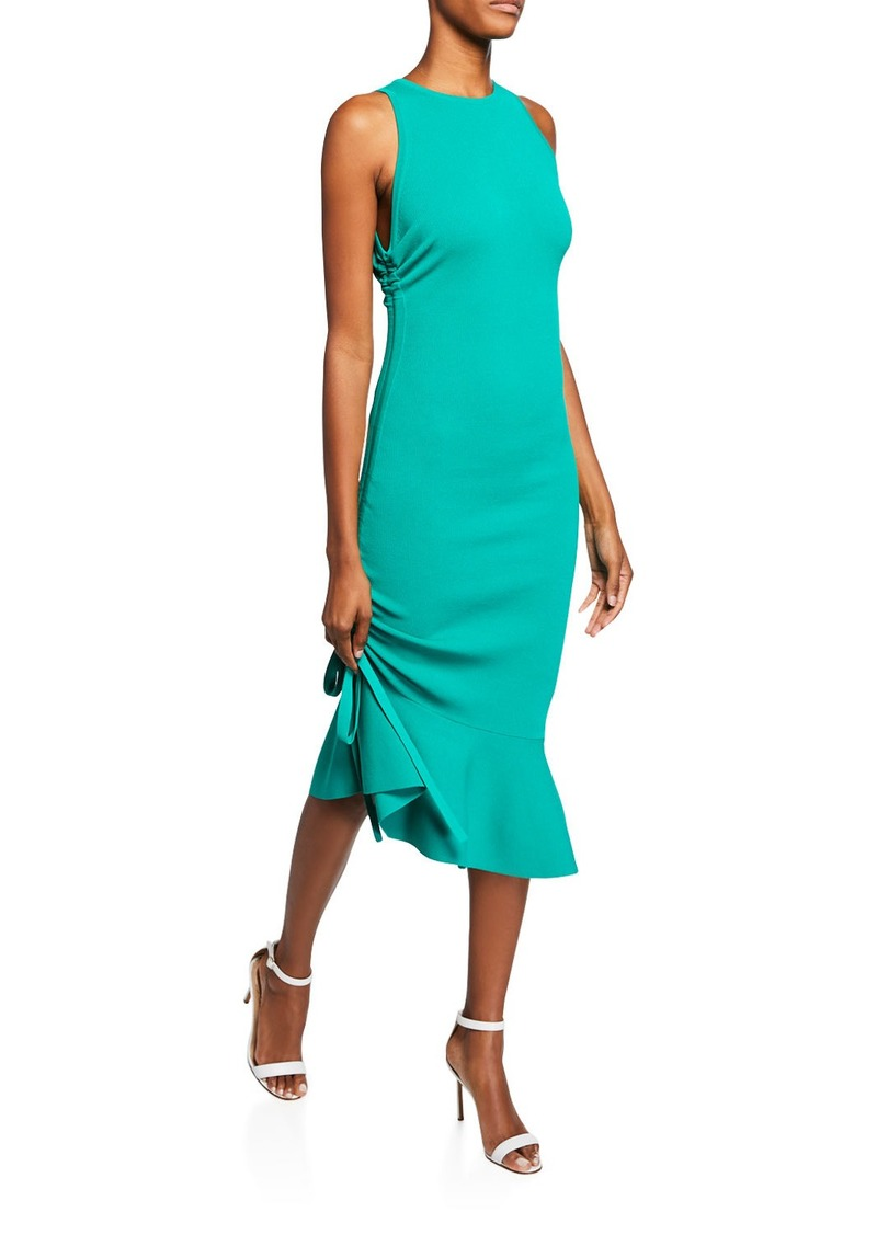 Milly Sleeveless Bodycon Dress with Shirred Side