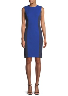 Milly Sleeveless Colorblock Scuba Dress