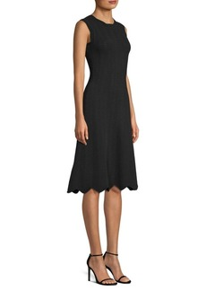 Milly Textured Wave Flare Dress