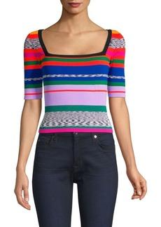 Milly Space Dye Rainbow Stripe Sweater