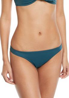 Milly St. Lucia Low-Rise Solid Swim Bikini Bottoms