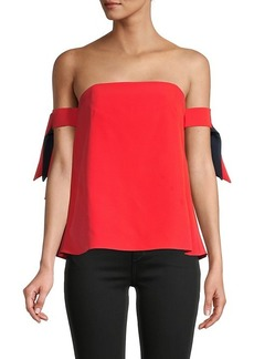 Milly Straight Across-Neck Top