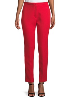 Milly Stretch Crepe Cigarette Pants  Ruby Red