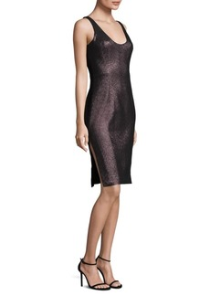 Milly Stretch Lurex Cora Sheath Dress