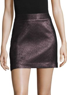 Milly Stretch Metallic Modern Mini Skirt