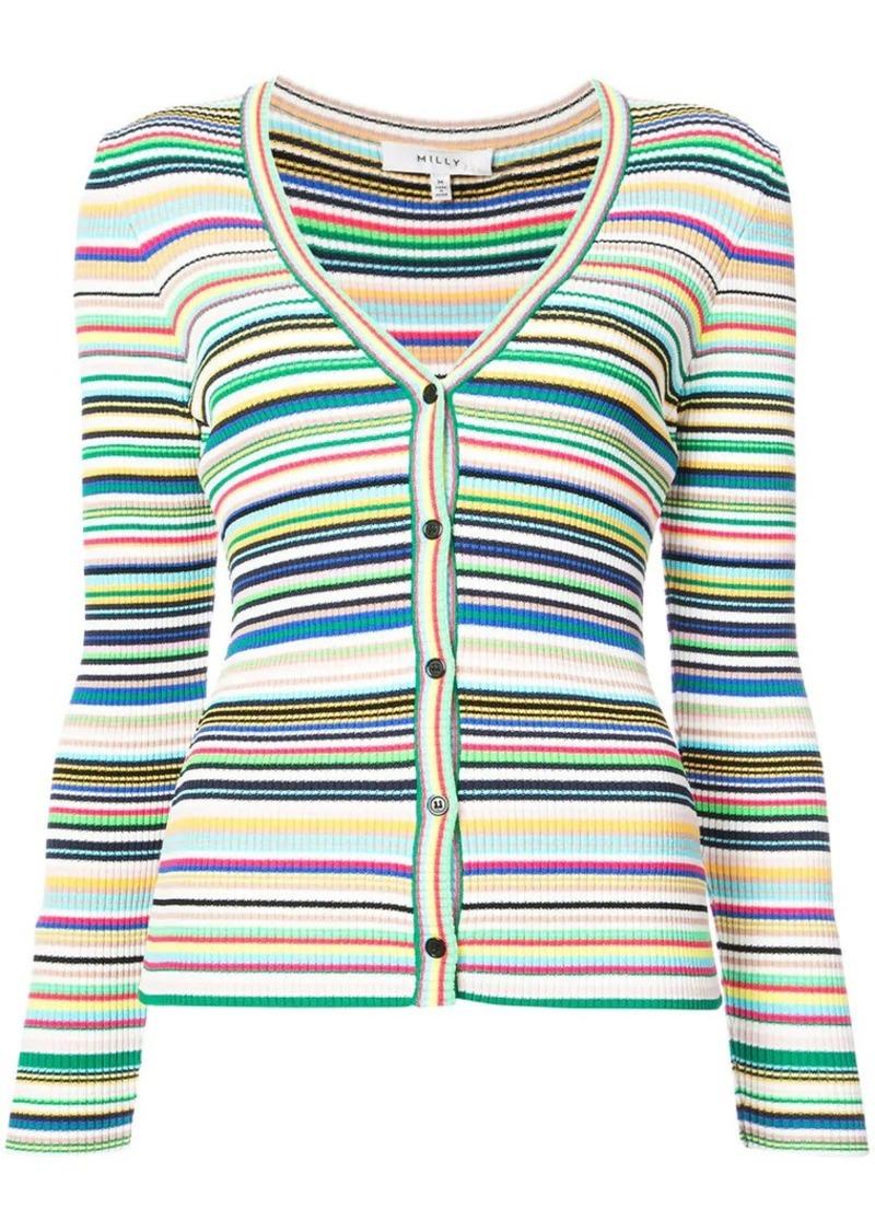 Milly striped cardigan