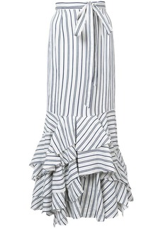 Milly striped peplum skirt