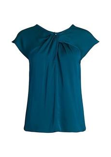 Milly Tatiana Silk-Blend Twist Top