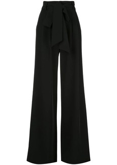 Milly tie waist flared trousers