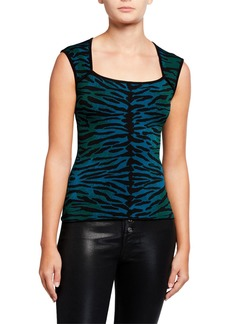Milly Tiger Jacquard Shell