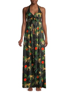 Milly Tina Jungle Print Long A-Line Coverup