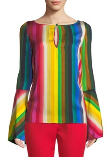 Milly Tina Rainbow Georgette Top