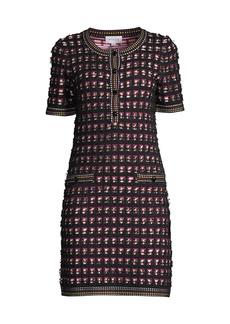 Milly Tweed Knit Mini Dress