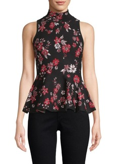 Milly Twilight Floral Flare Blouse